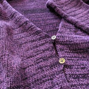 Vintage Purple and Black Cardigan